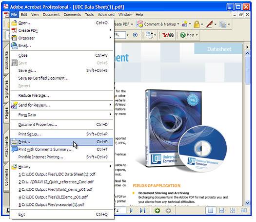 convert my tif file to pdf